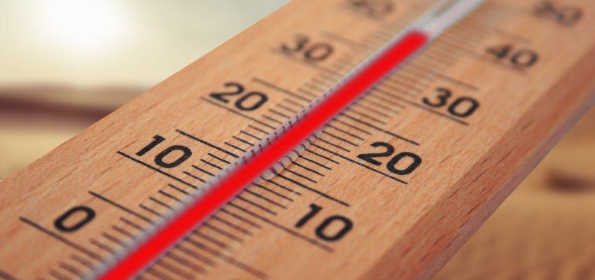 Detailaufnahme von einem Thermometer
